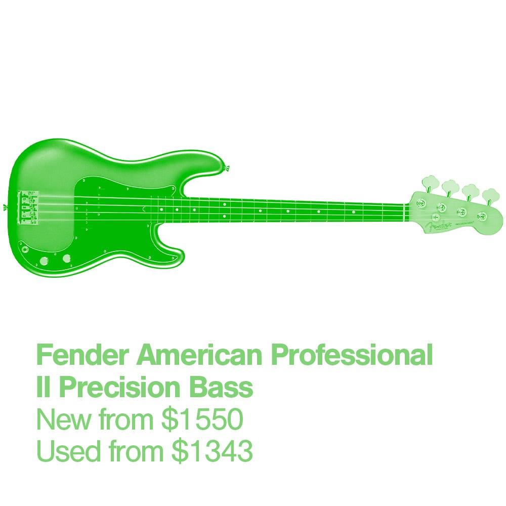7 Fender American Professional II Bass