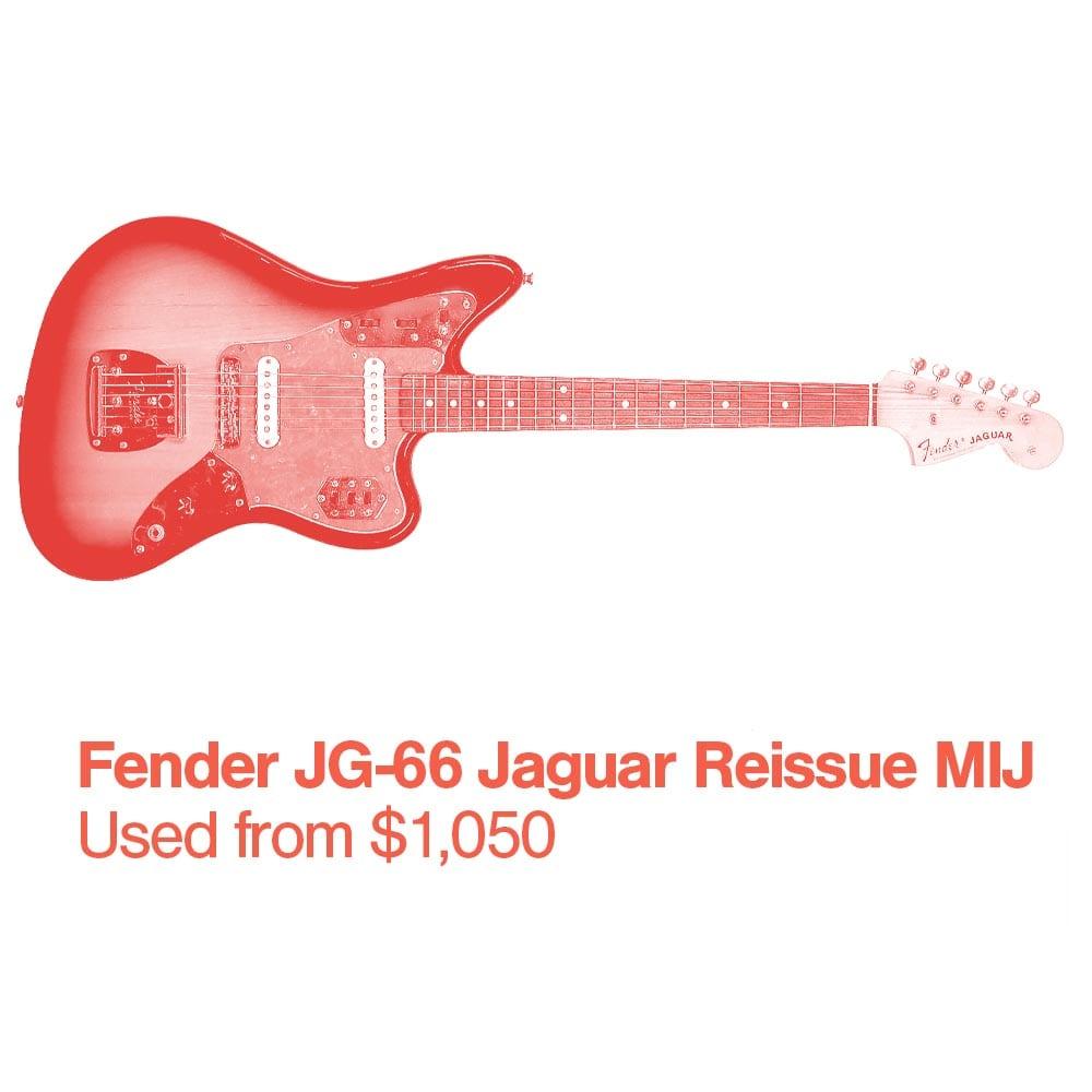 A Fender JG 66 Jaguar Reissue MIJ