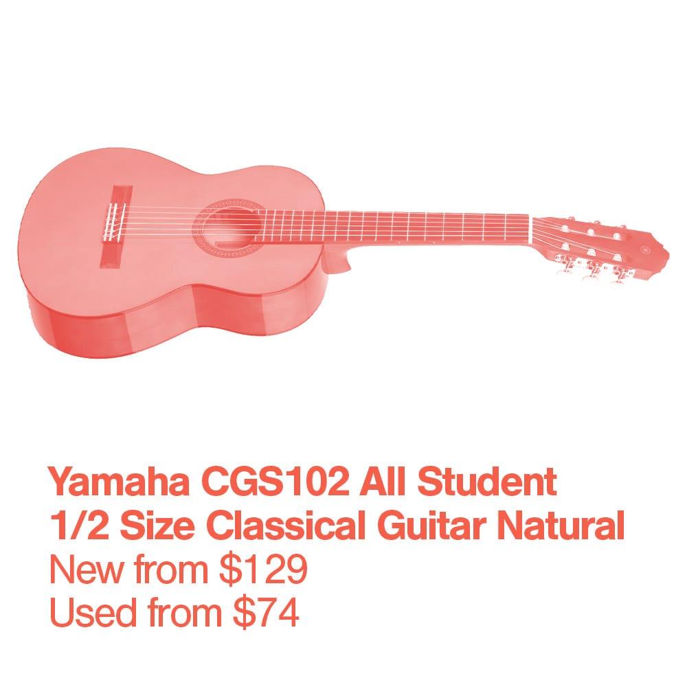 R Yamaha CGS102 AII Student 12 Size Classical Guitar Natural N